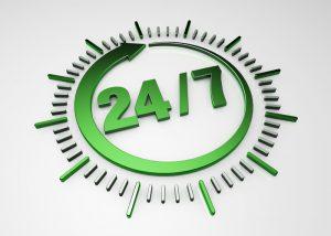 24/7 clock